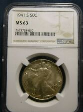 1941 S Walking Liberty Half Dollar NGC MS63