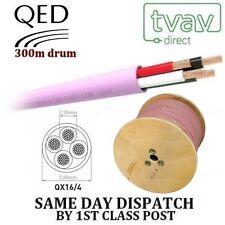 Qed QX 16/4 PVC ignifuge 4 conducteurs Câble Haut parleur - Blanc par Mètre