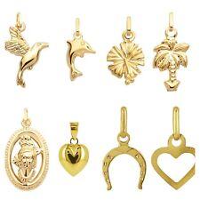 Petit pendentif en or massif 18 carats 750/1000 plusieurs styles