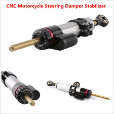 25.5cm CNC Universal Motorcycle Bike Steering Damper Stabilizer Gear Adjustable
