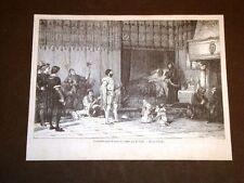 Il divertimento di Re Luigi XI Pittura di Comte