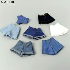 """Fashion Denim Jeans Bottoms Shorts For 11.5"""" 1/6 Doll Clothes Outfits For Blythe"""