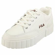 Fila Sandblast Low Womens Gardenia Leather & Synthetic Flatform Trainers