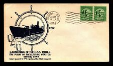 USS Brill 1944 Launched / Spader Cachet - L6684