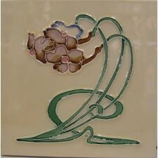 9934027 Jugendstil-Fliese Kachel Keramik neu 15,2x15,2cm