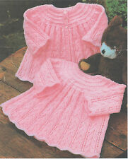 Baby Knitting Patterns  Dress and Matinee  Coat, , 16 - 20  ins Chest  #33