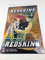 "NFL Ultraflip Holographic 3D Double Image Poster WASHINGTON REDSKINS 17""x11"" new"