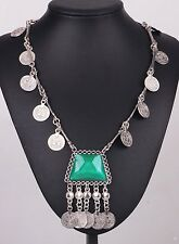 Fashion ancient Silve chain Bib Statement Chunky Round coin  Pendant Necklaces 3