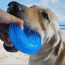 Pet Dog Squeaky Sound Chew Toy Rubber Interactive Ring Toys Teeth Cleaning Toy .