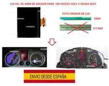 LCD FIS 2MM VW PASSAT GOLF V SKODA SEAT PANTALLA INSTRUMENTO VELOCÍMETRO