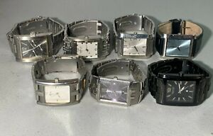 7X MENS KENNETH COLE GUESS RELIC TANQUE METAL LEATHER WATCHES RUNNING