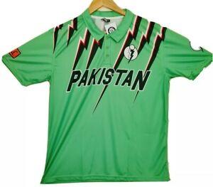 PAKISTAN ICC Cricket LIGHTING 1993 RETRO Sports Shirt