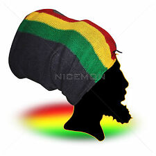 Black RGY Headwrap Headscarve Rasta Dreadlocks Reggae Africa Natty Dread 30x60""