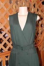 LAURA ASHLEY  VINTAGE  WOOL  PLEATED BUTTON DOWN LADIES DRESS SIZE 4/34