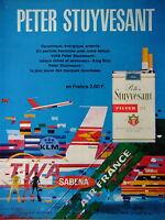 PUBLICITÉ DE PRESSE 1969 CIGARETTE PETER STUYVESANT TABACS - AIR FRANCE SABENA