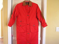 Eddie Bauer Goose Down Long Red Parka Warm Winter Coat Women's S Small $249