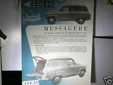 PROSPECTUS SIMCA ARONDE BREAK MESSAGERE 1956