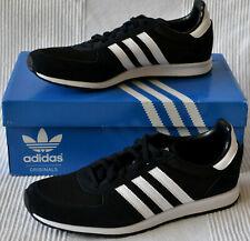 Adidas Adistar Racer Negro Blanco Tenis Zapatillas para hombre de malla de Gamuza UK 7.5 Nuevo
