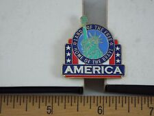 AMERICA LAND OF THE FREE HOME OF THE BRAVE PIN