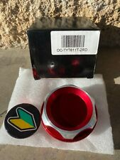 JDM ENGINE BILLET OIL CAP FILLER TANK COVER 2 TONE RED BRAND NEW
