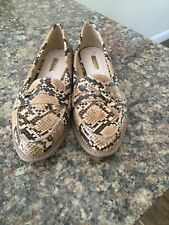 Fabulous leather snake skin brown/cream/tan size38/5 Brand New loafers