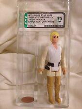 Vintage Star Wars Luke Skywalker Blond Light Pants Figure China Variant AFA 70