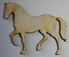 (2) 7 Inch x 6.1 Inch Horse Craft Project Wood Cutout Scrapbooking HORSE7