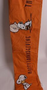 Pottery Barn Kids Peanuts Thanksgiving tablecloth, snoopy woodstock Thankful