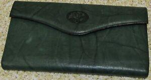 Buxton Green Leather Checkbook Wallet