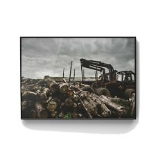 Shropshire Logs. Professionally framed contemporary print. Original photograph