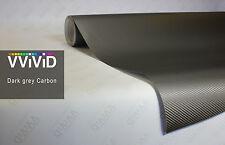 """Vvivid Grey 3D carbon fiber vinyl car wrap film 2.5"""" x 3.5"""" sample"""