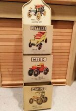 Vintage Metal/Tin Wall hanging Letter Mail hanger with Antique Cars