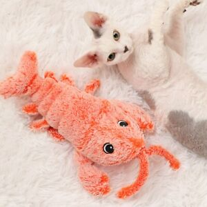 Moving Interactive Realistic Flippity Flopping Lobster Cat Toy Catnip Kicker