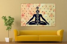 Indian Seven Chakra Handmade Cotton Poster Size Tapestry Wall Hanging Throw Art