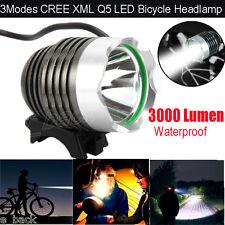 3000LM CREE XML Q5 LED Headlight Bike Light Bicycle Headlamp 3 Mode Lamp Torch