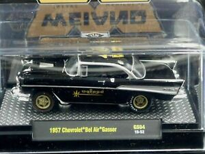M2 MACHINES 1957 57 CHEVY BELAIR GASSER WEIAND COLLECTIBLE CAR -Black, MIP