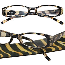 4767a3c291 +1.50 ICU Eyewear Black and Gold Oval Reading Glasses Spring Hinge Case