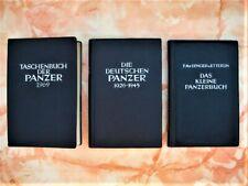 Konvolut 3 ältere Panzer Handbücher - F.M.v. Senger u. Etterlin *1964 - 1969