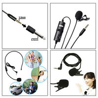 Mini Clip-on Lapel Microphone 3.5mm Condenser Wired Mic Lavalier Tourist guide