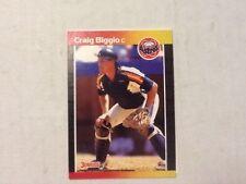 1989 Donruss CRAIG BIGGIO Rookie Card RC Astros Hall of Fame HOF 7/26/15