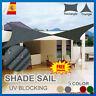Toldo Para jardín Vela de Sombra Rectángulo Impermeable Protección UV Rayos