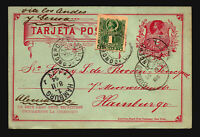 Chile 1894 Uprated Postal Card to Germany / Light Creasing - Z14680