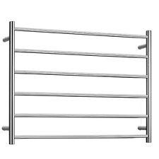 Electric Towel Warmers  bathroom with 6 heated towel rack 75W stainless steel