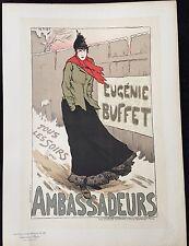 """METIVET LUCIEN  """"EUGÈNIE BUFFET AUX AMBASSADEURS"""" 1896"""
