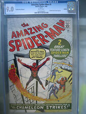 Amazing Spider-Man #1 CGC 9.0 WP GRR **Silver Age** Marvel Comics 1966