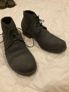 LAYER-0 Hemp Fabric Covered Leather Ankle Boots!