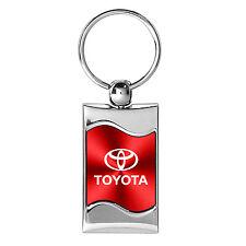Toyota Logo Wave Red Key Chain