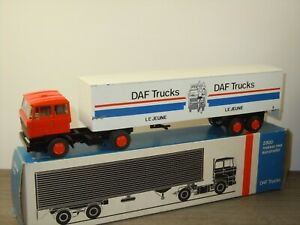 Daf 2800 Truck & Trailer Le Jeune - Lion Car Holland 1:50 in Box *53182