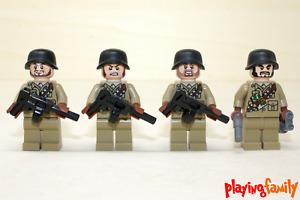 LEGO INDIANA JONES / SUPER HEROES -  4 Soldaten - Figuren aus LEGO®-Teilen - MOC