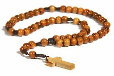 Olivewood Olive Wood Rope Twine Rosary Cross Hand Made in Bethlehem Holy BROWN